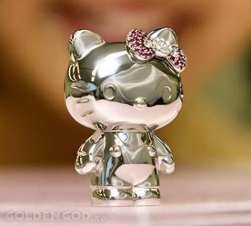 Платиновая фигурка кошечки Hello Kitty