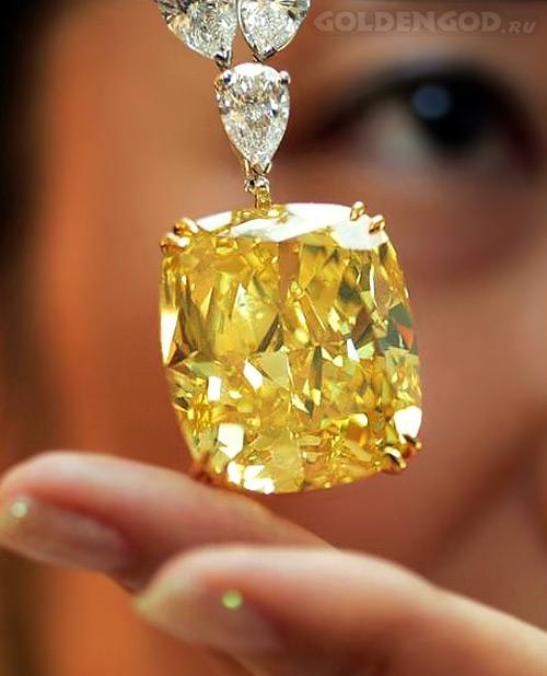 Дорогой желтый бриллиант солитер 51 карат