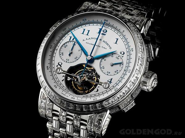 Дорогие механические часы с турбийоном A. Lange & Sohne