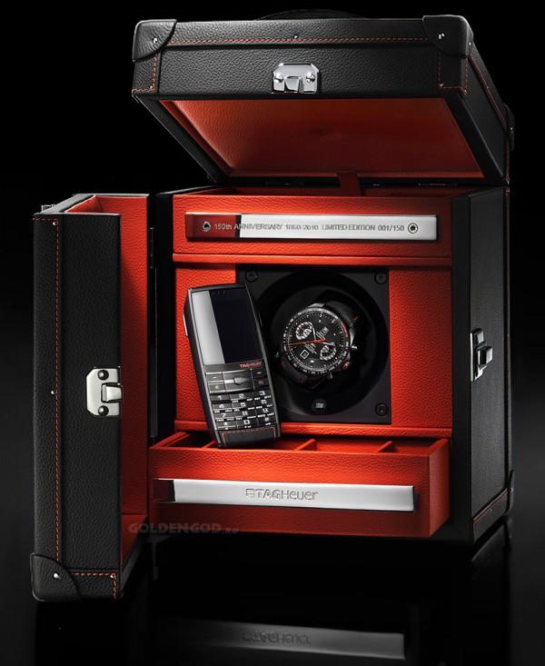TAG Heuer дорогой, лимитированный подарочный набор в роскошном боксе ручной работы - Часы и сотовый телефон.