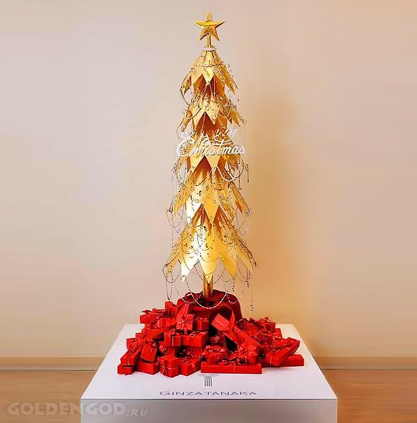 Золотая елка от японского дизайнера Гинза Танака
